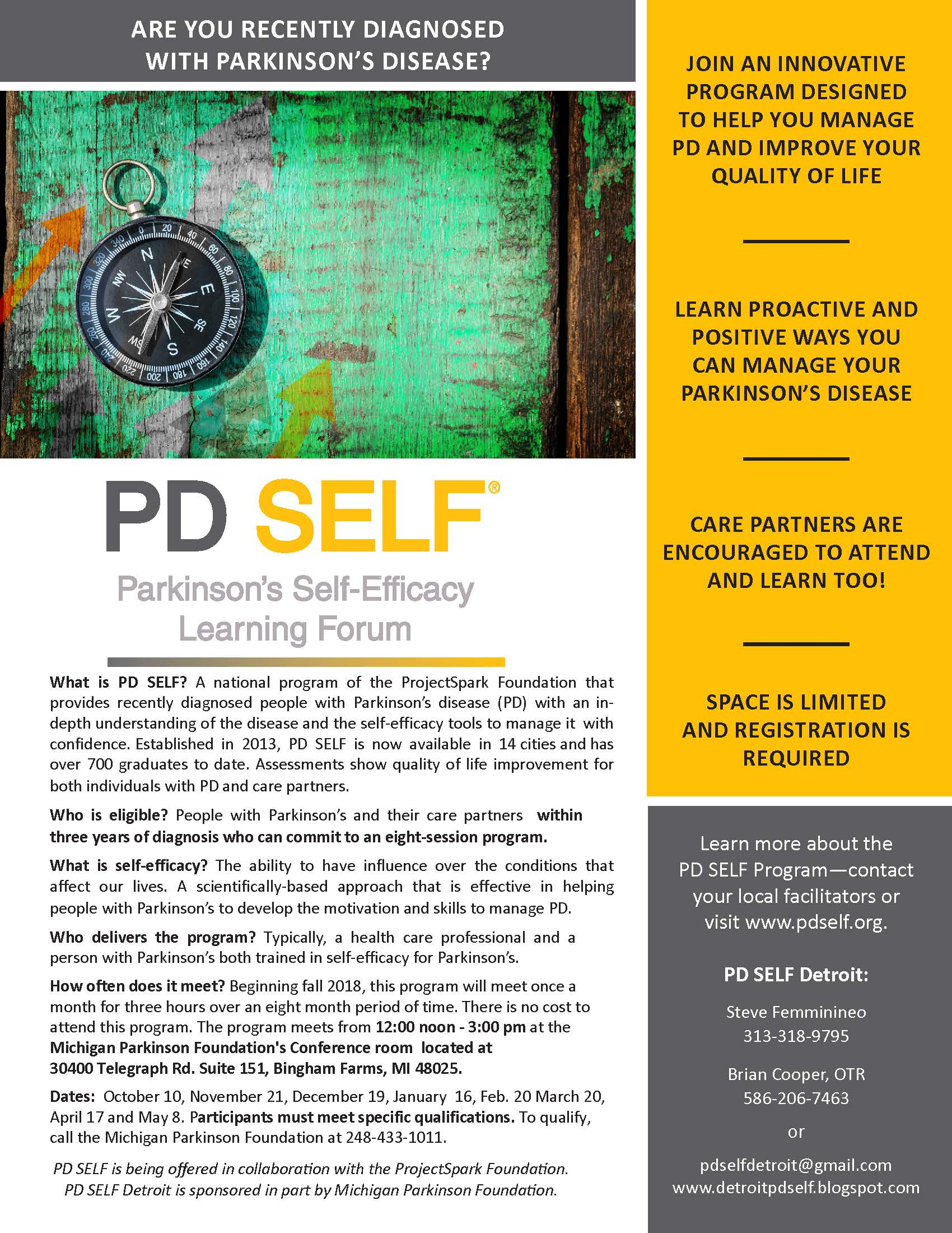 2018 PD Self flyer Detroit