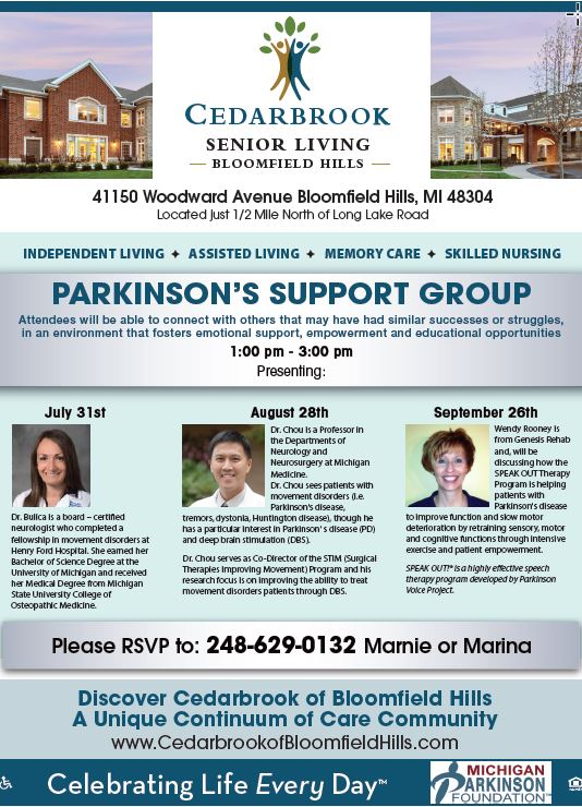 2019 07 31 16 54 25 Support Group Flyer Cedarbrook flyer